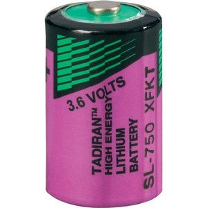 Lithium batterij 1/2 AA 3,6V