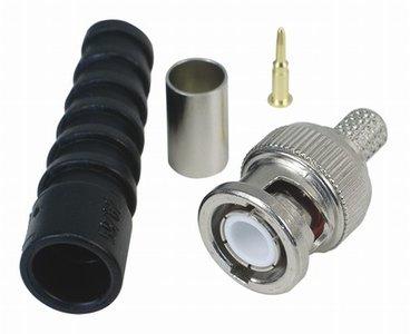 BNC coax connector 6 mm voor RG59